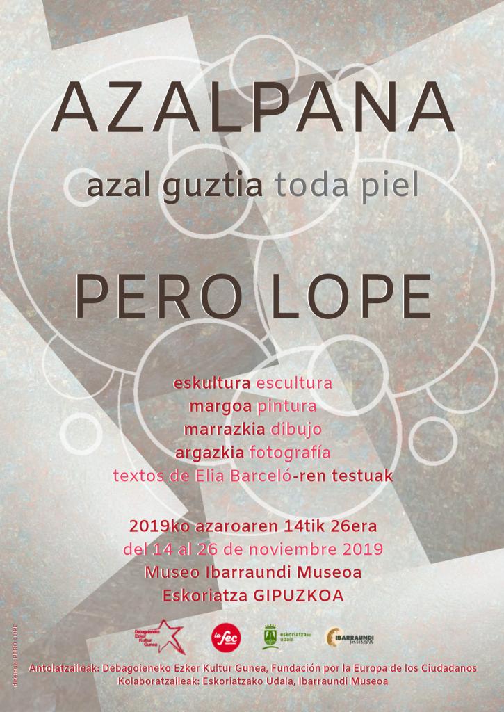 Cartel que acompaña al catálogo de la exposición Azalpana en el museo Ibarraundi, Eskoriatza
