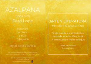 Cartel  sobre charla y visita sobre Artes Plásticas y Literatura en Navarrete.